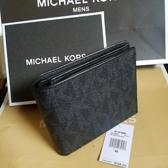 931eef9f27aa50 Michael Kors Bags | Black Billfold Wallet Box Paper Bag Authentic ...